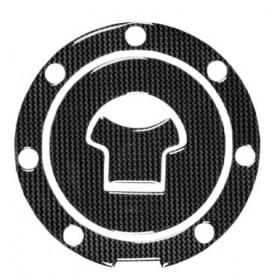 Adesivo Tappo Serbatoio Resina 3D 7 Fori Adesivi Moto Stickers Carbon