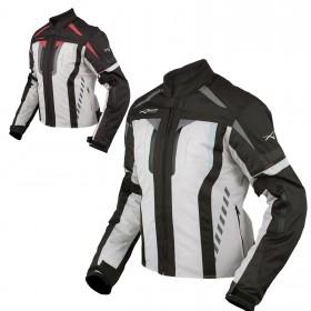 Giacca Donna Moto Ventilata Tessuto Protezioni CE Sport Impermeabile