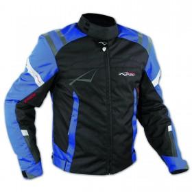 Giacca Sport Touring Tessuto Moto Cordura CE Protezioni Sfoderabile Blu