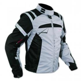Giacca Sport Touring Tessuto Moto Cordura CE Protezioni Sfoderabile Grigio