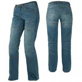 Jeans Donna Pantaloni Lady Moto Protezioni Omologate Rinforzi Aramid Blu