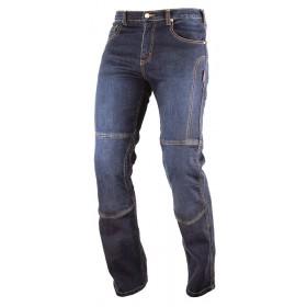 Jeans Pantaloni Denim Moto Protezioni Omologate Inserti Aramid Rinforzati Blu