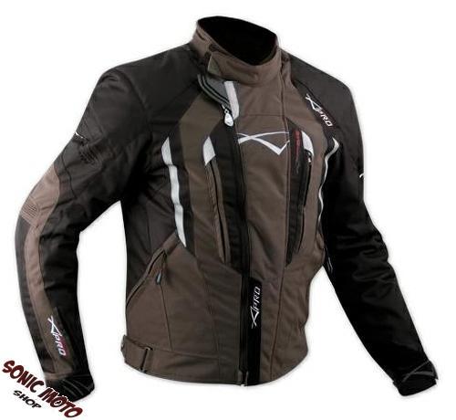 Giacca-Cordura-Moto-Tessuto-Impermeabile-Sport-Termica-Sfoderabile-Marrone