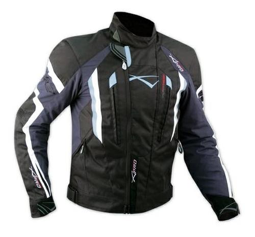 Chaqueta-de-Cordura-Tela-Moto-extraible-Termica-impermeable-Sport-Touring-Azul