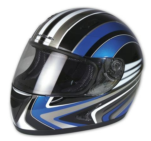 casque integral moto scooter piste route haute securit graphique bleu xs ebay. Black Bedroom Furniture Sets. Home Design Ideas