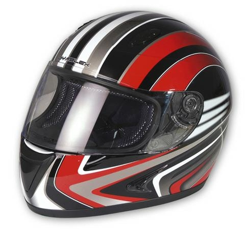 casque integral moto scooter piste route haute securit graphique rouge xs ebay. Black Bedroom Furniture Sets. Home Design Ideas