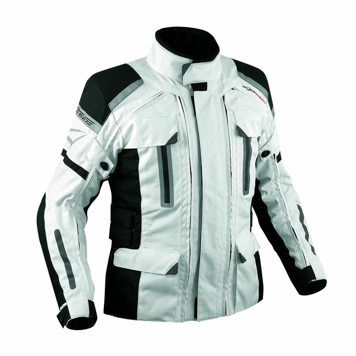 4-Capas-4-Seasons-chaqueta-desmontable-termica-impermeable-Moto-BMW-Blanco