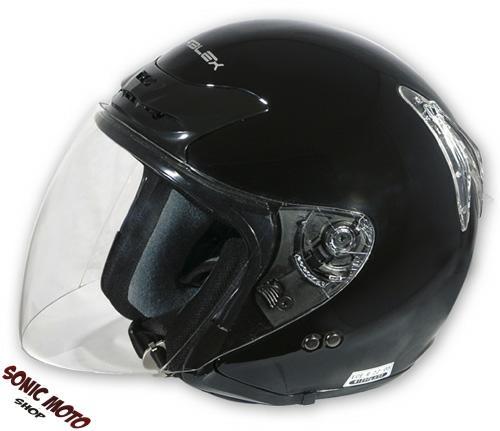 casque jet moto scooter face ouverte avec visiere motard universel homologu ce ebay. Black Bedroom Furniture Sets. Home Design Ideas