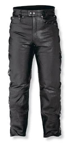 Jeans-Pelle-Pantaloni-Moto-Custom-Chopper-Nero-Comfort-A-Pro