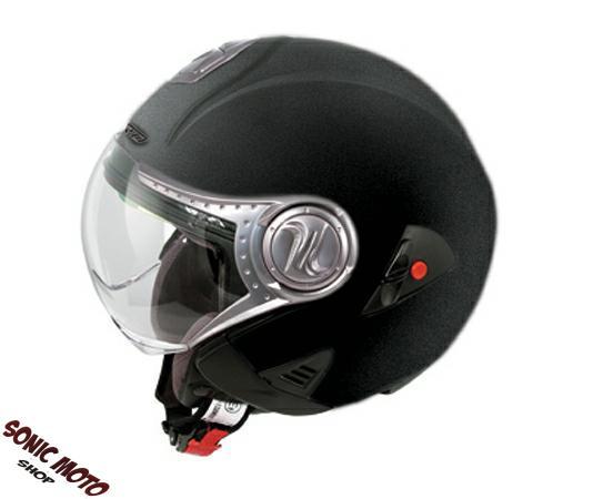 Casco-Demi-Jet-Doppia-Visiera-Sole-Avio-Moto-Touring-Maxi-Scooter-Custom