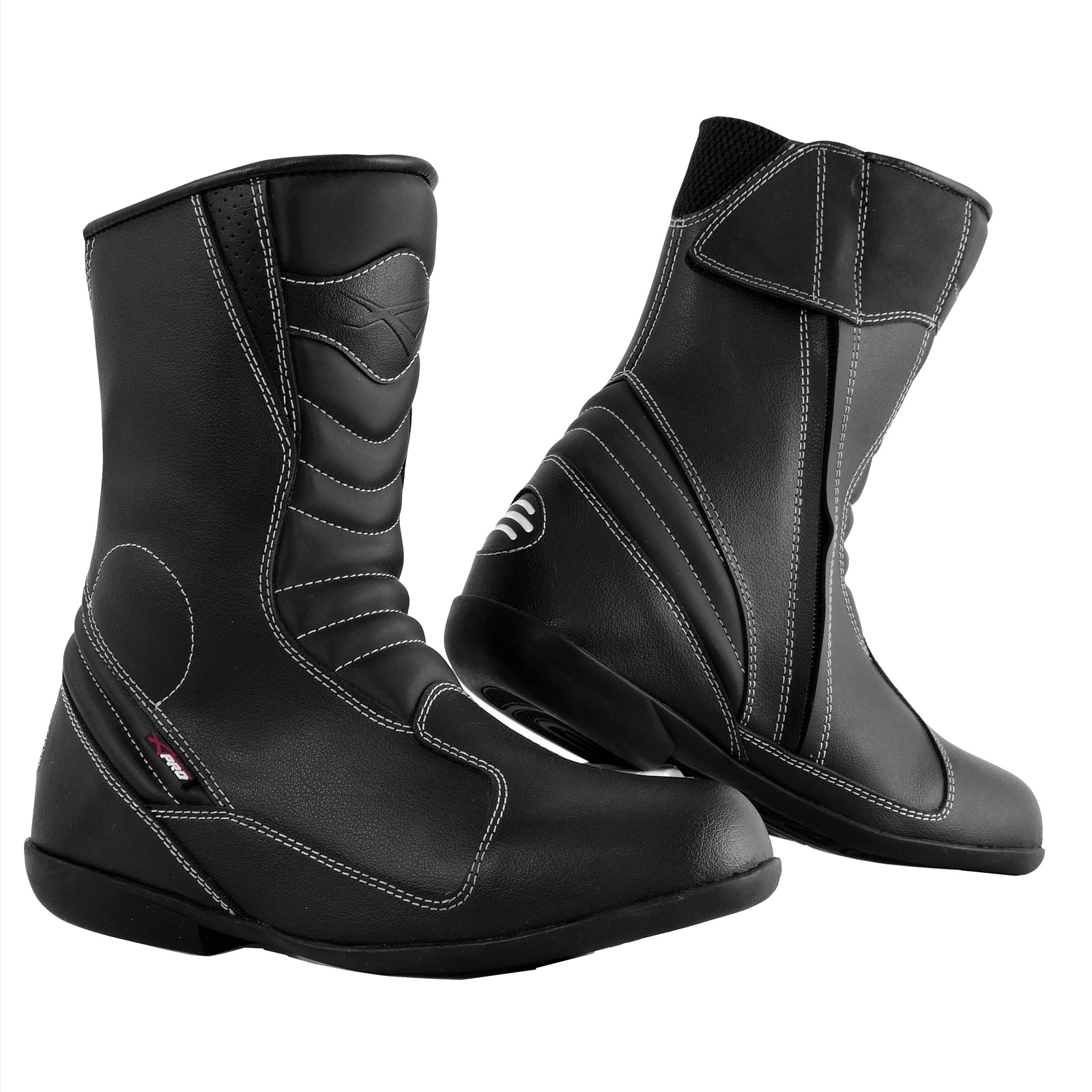 Ladies Motorcycle Boots Leather Motorbike Waterproof Touring Women