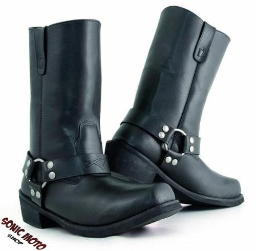 bottes cuir mod le camperos moto custom homme chaussures chopper classique ebay. Black Bedroom Furniture Sets. Home Design Ideas