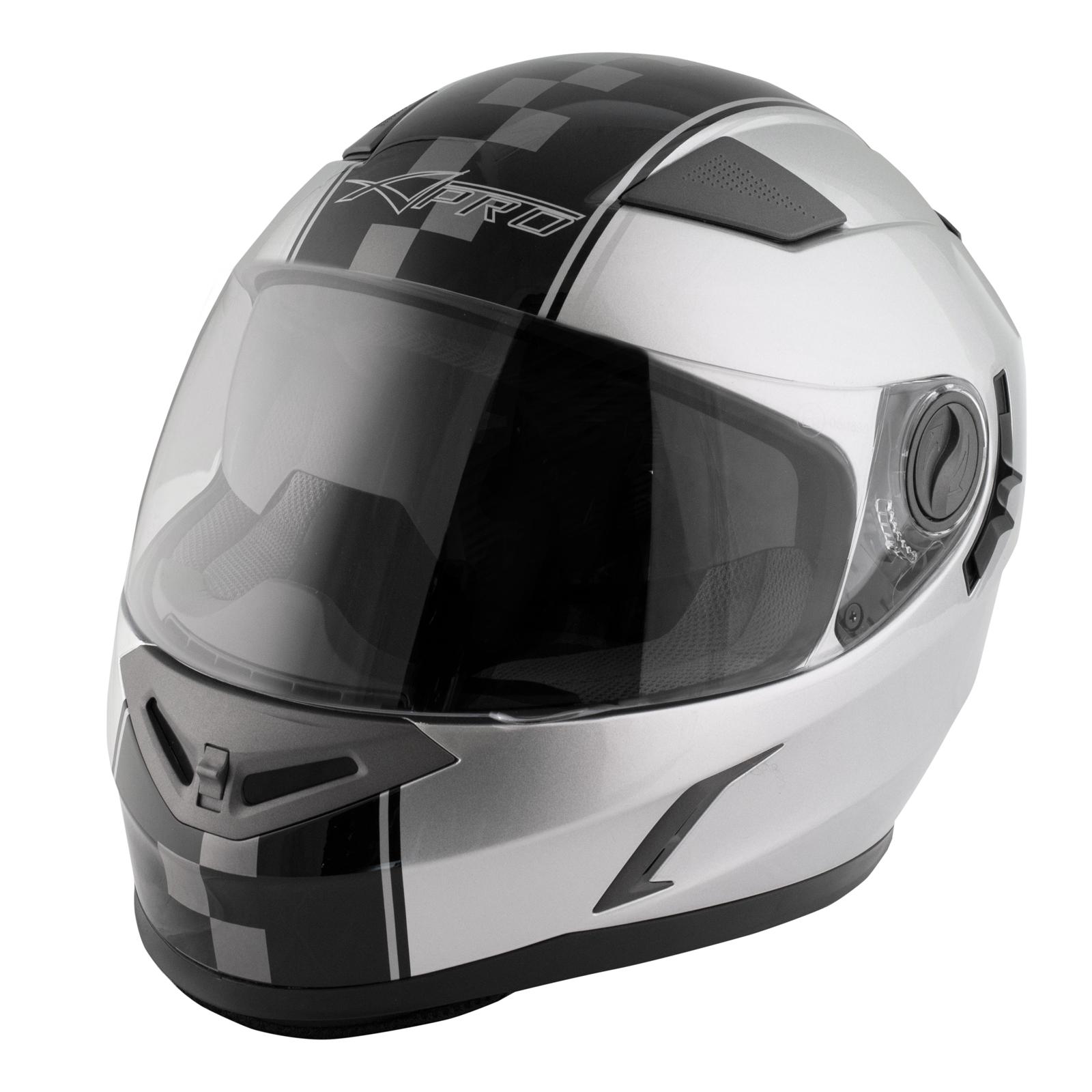 casque homologu integral moto scooter visi re pare soleil touring argent ebay. Black Bedroom Furniture Sets. Home Design Ideas