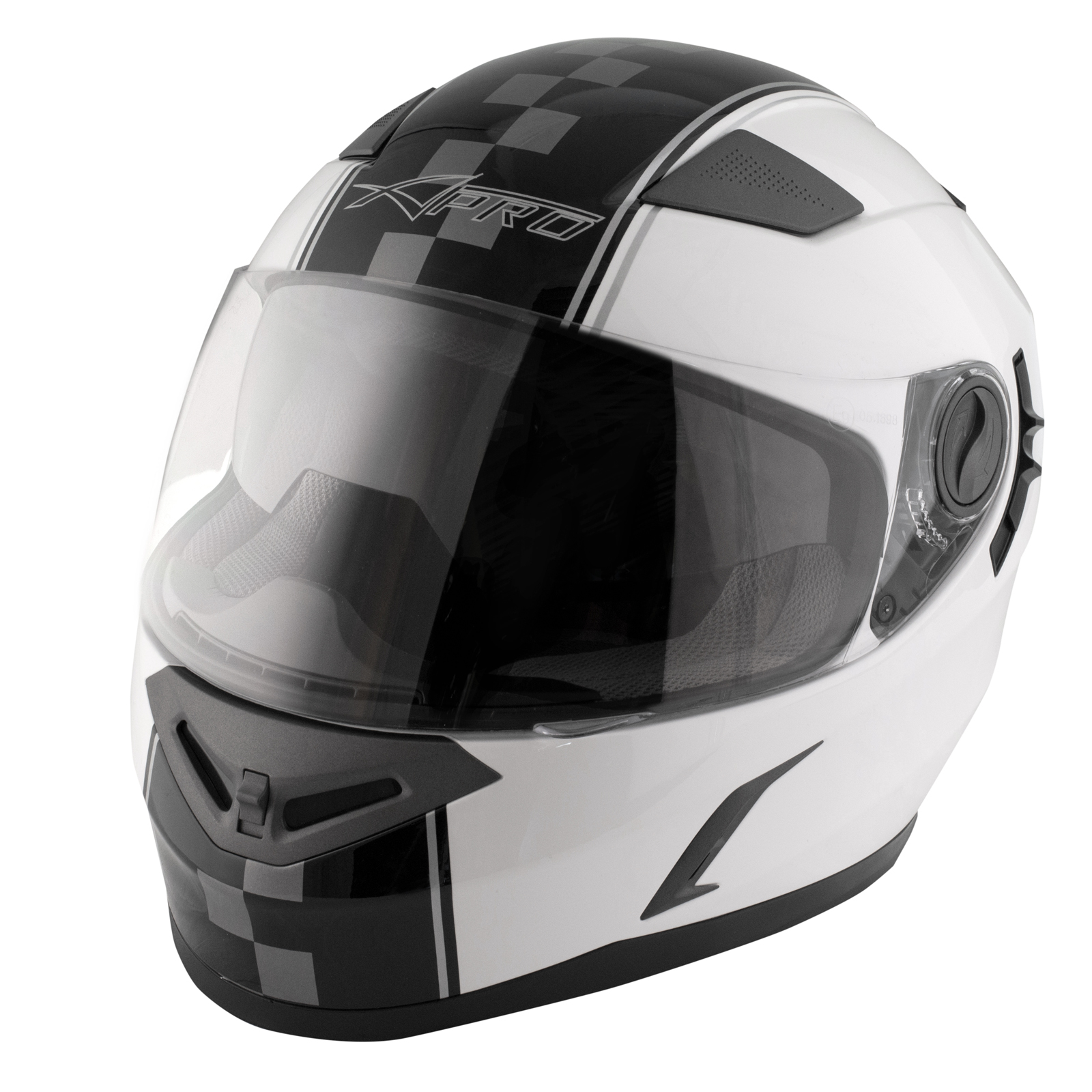 casque homologu integral moto scooter visi re pare soleil touring blanc ebay. Black Bedroom Furniture Sets. Home Design Ideas