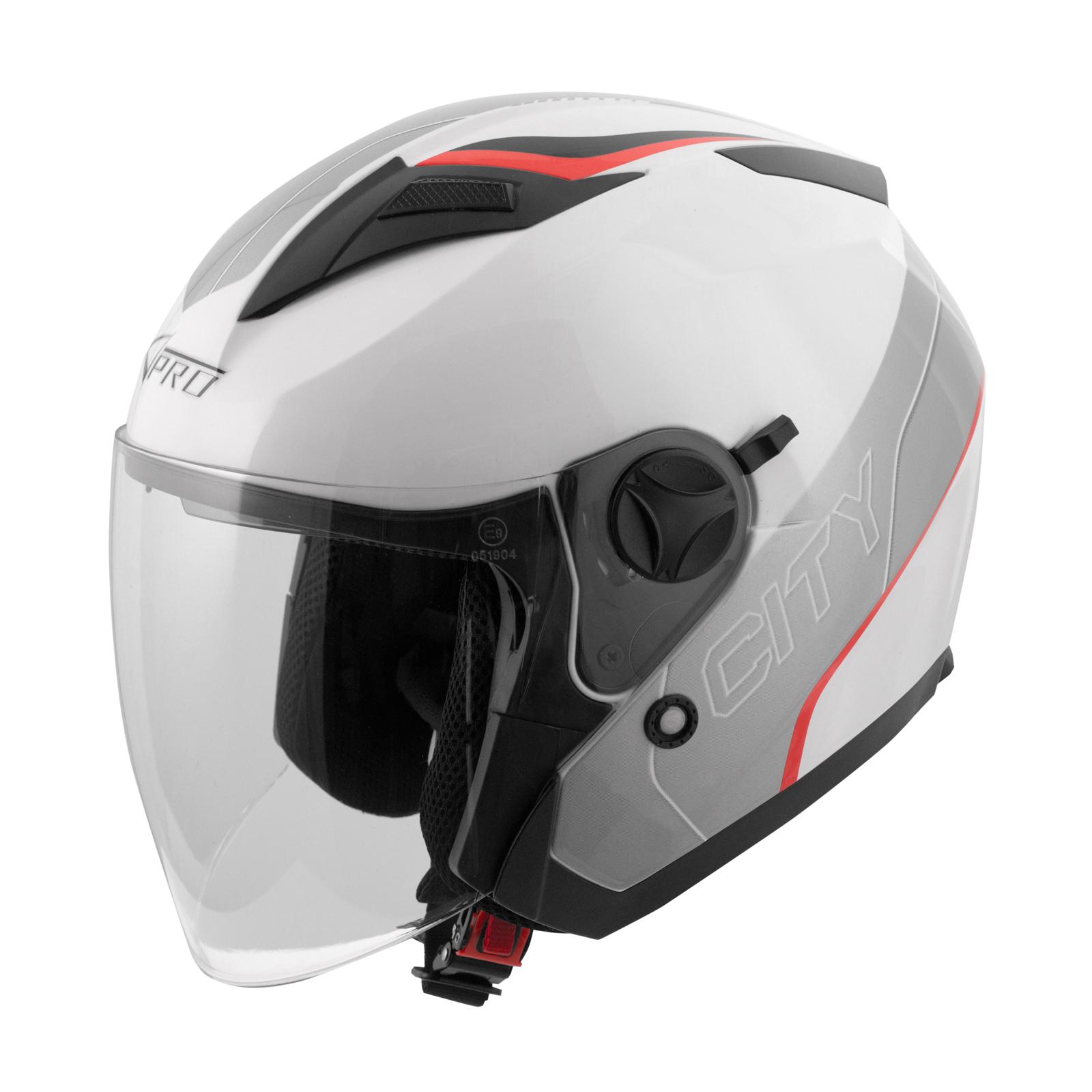 jet helm motorroller genehmigt ece 22 05 stadt visier. Black Bedroom Furniture Sets. Home Design Ideas