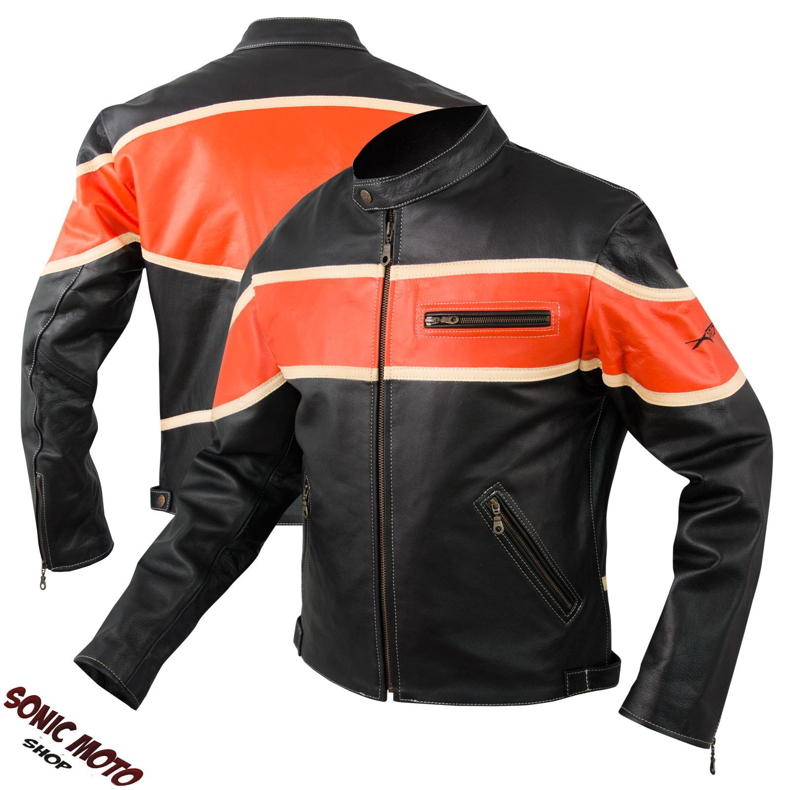 Giacca-Moto-Pelle-Custom-Bikers-Motociclista-Chopper-Stile