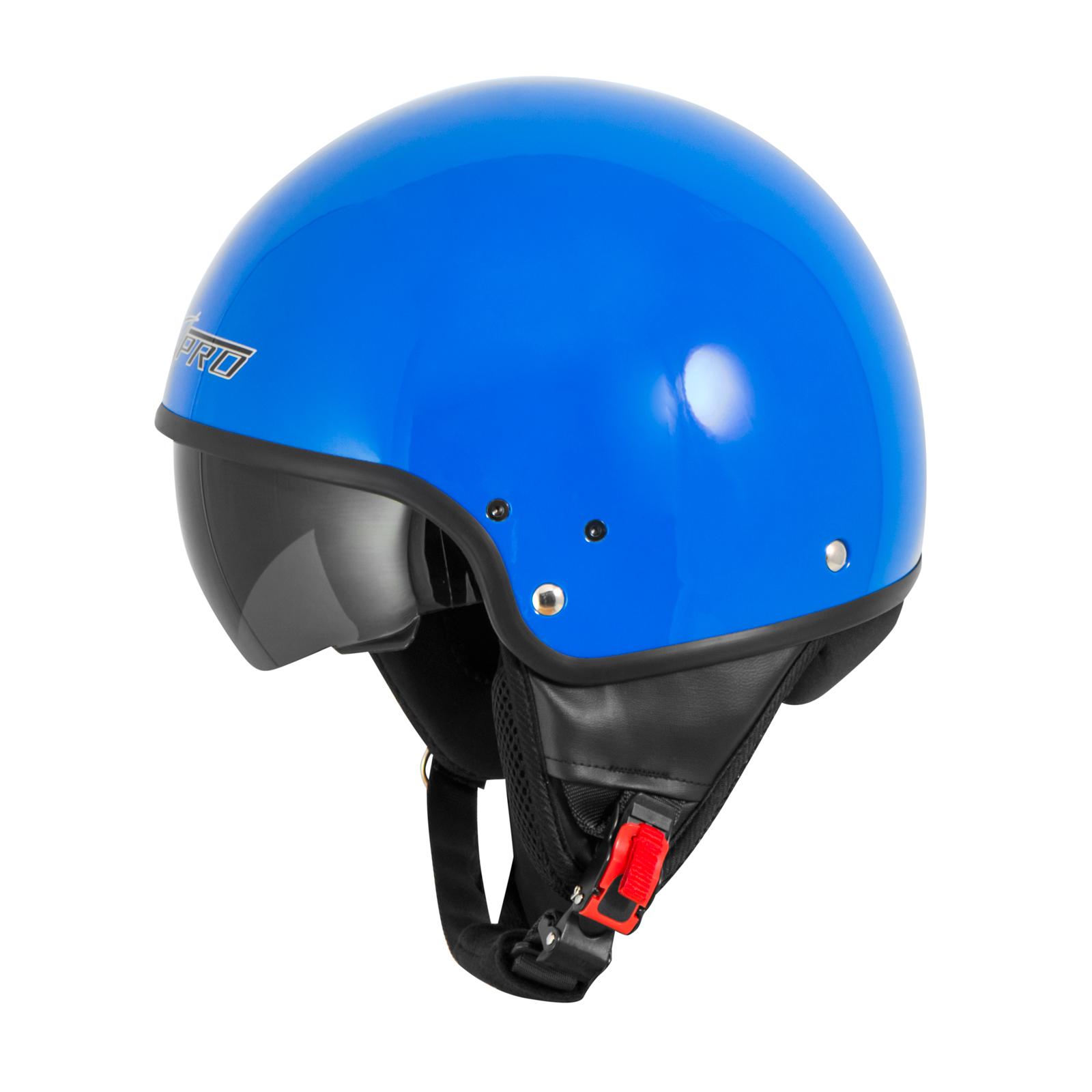 Casque-Moto-Scooter-Vespa-Jet-Visiere-pare-soleil-ECE-22-Blanc-SonicMoto miniature 13