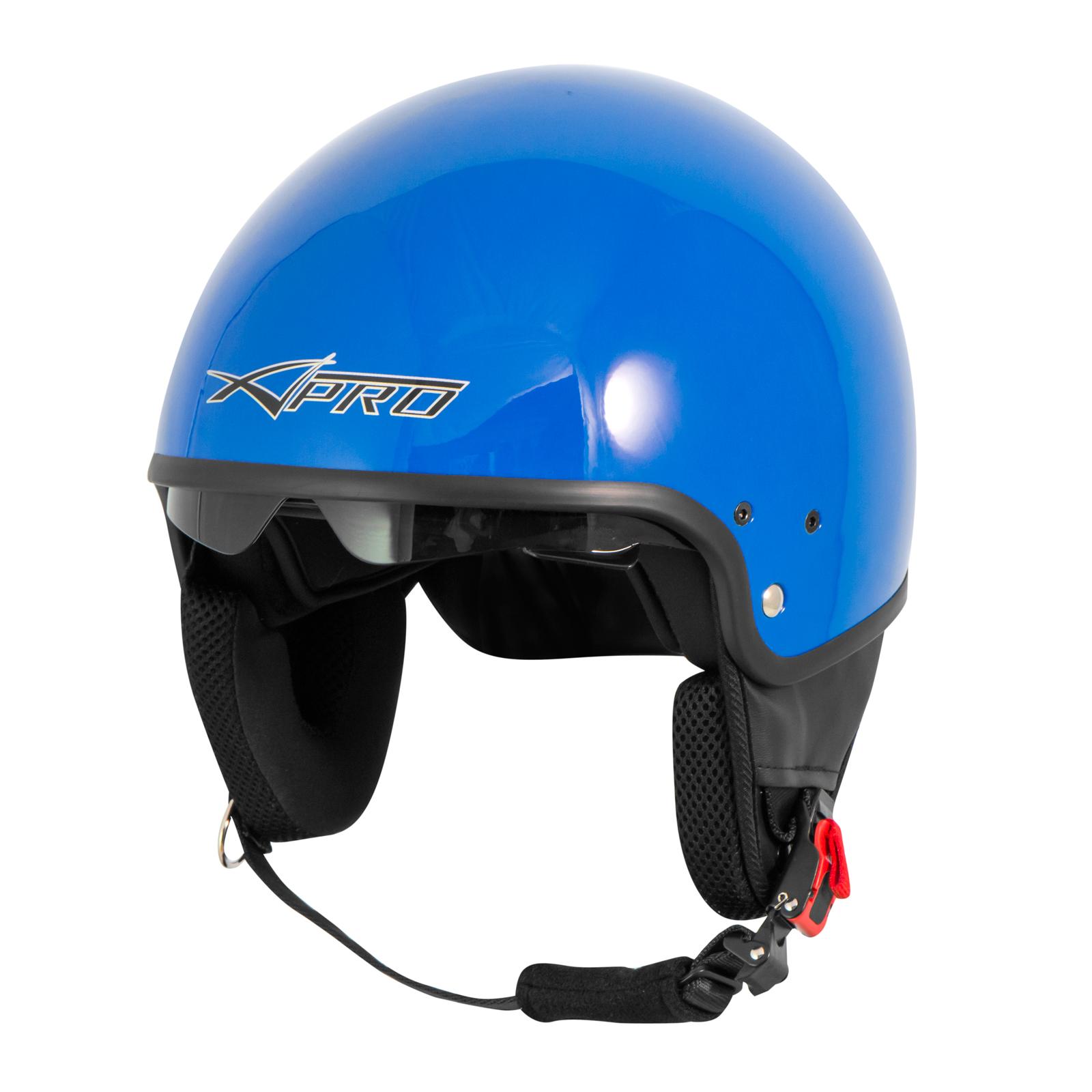 Casque-Moto-Scooter-Vespa-Jet-Visiere-pare-soleil-ECE-22-Blanc-SonicMoto miniature 12