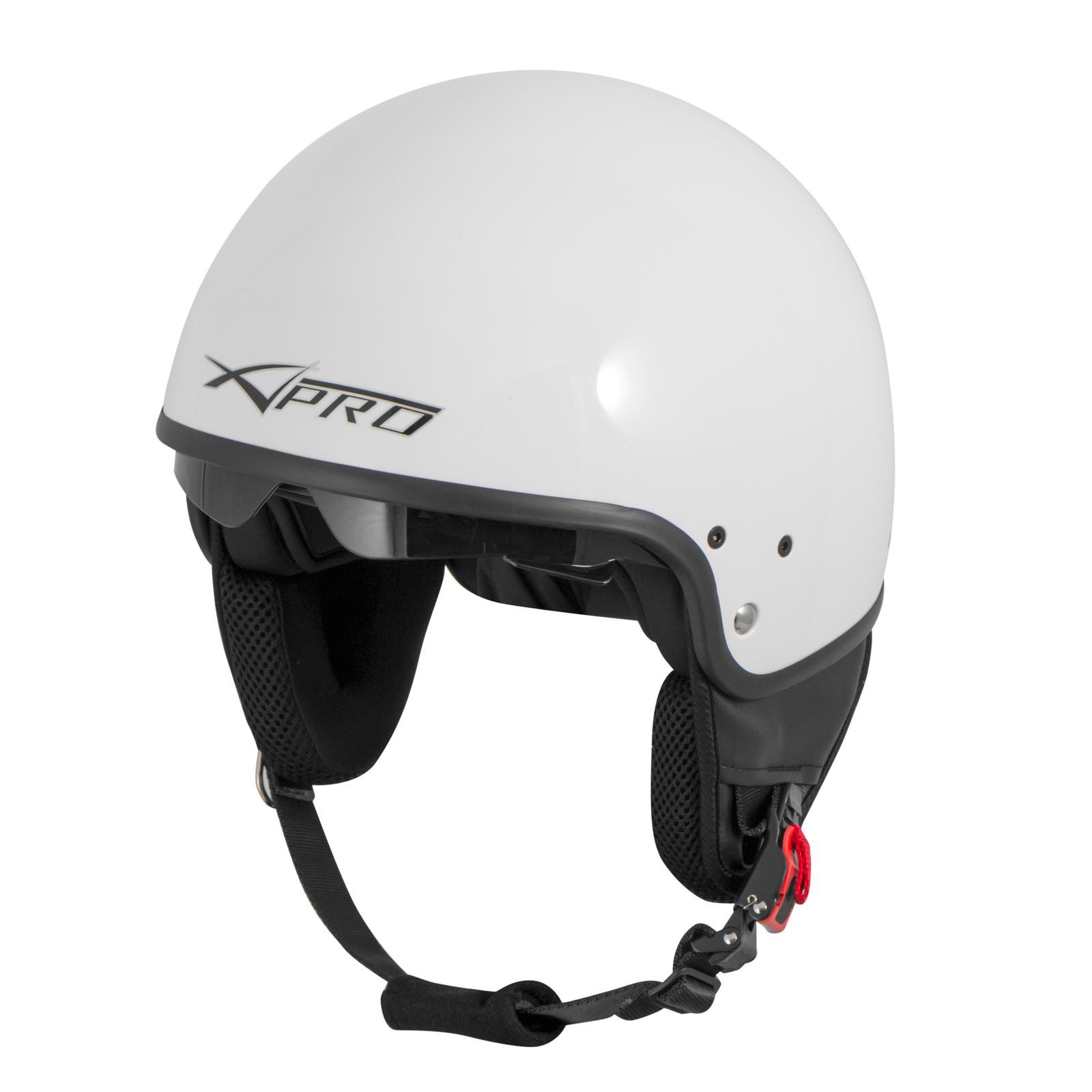 Casque-Moto-Scooter-Vespa-Jet-Visiere-pare-soleil-ECE-22-Blanc-SonicMoto miniature 21