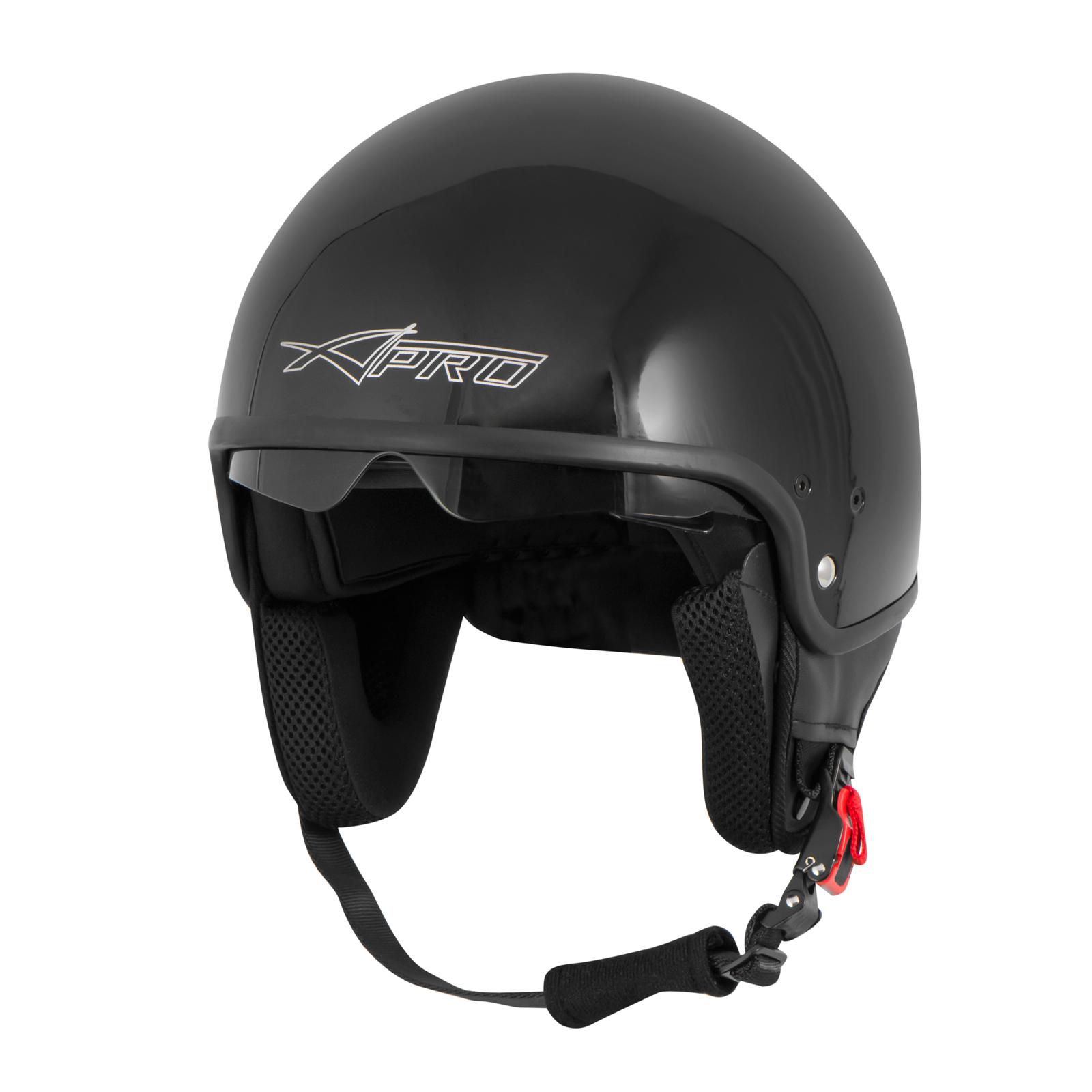 motorcycle open face classic jet helmet scooter inner sun. Black Bedroom Furniture Sets. Home Design Ideas