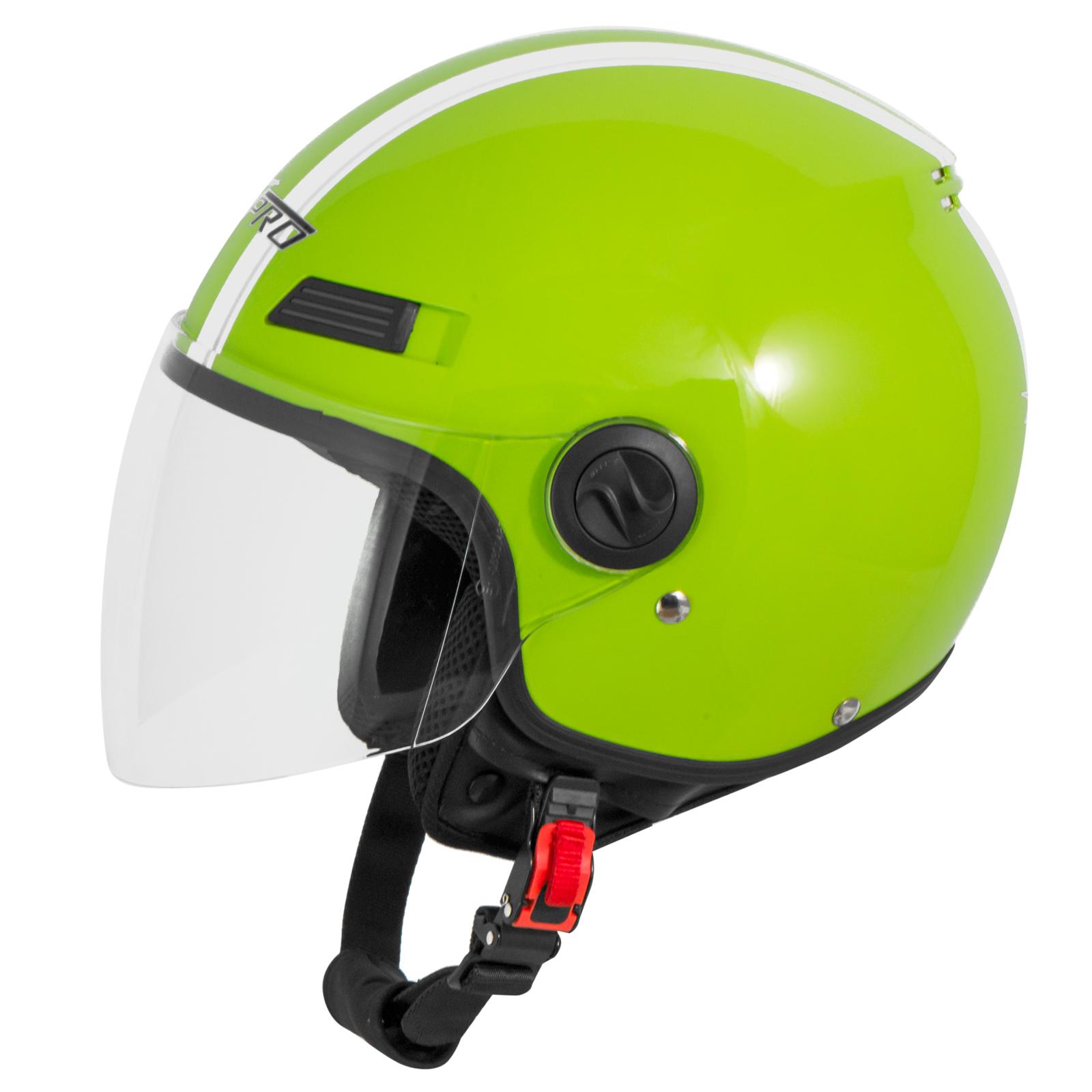 Casque-Avec-Moto-Scooter-Quad-Jet-Visiere-ECE-22-SonicMoto miniature 16