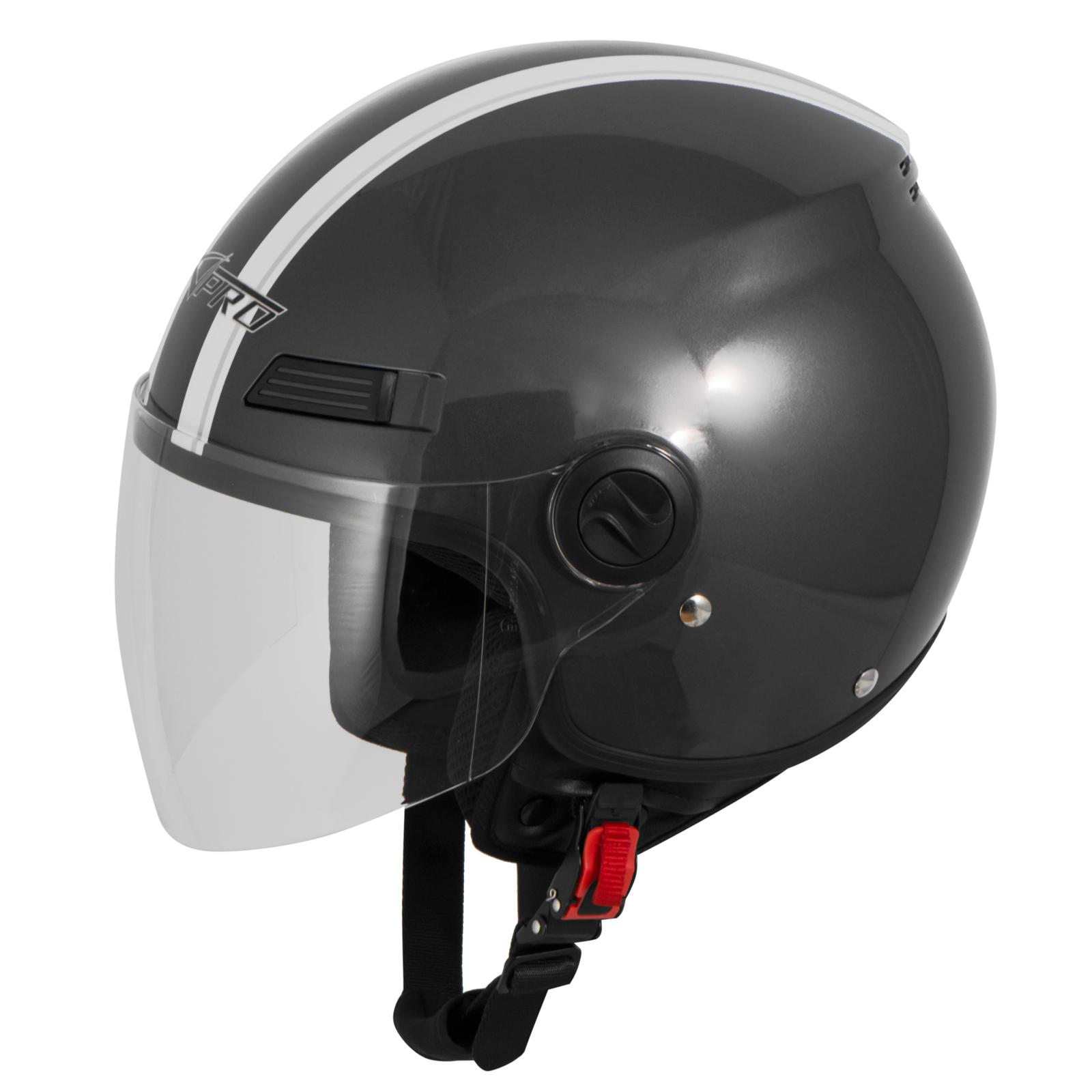 Casque-Avec-Moto-Scooter-Quad-Jet-Visiere-ECE-22-SonicMoto miniature 19
