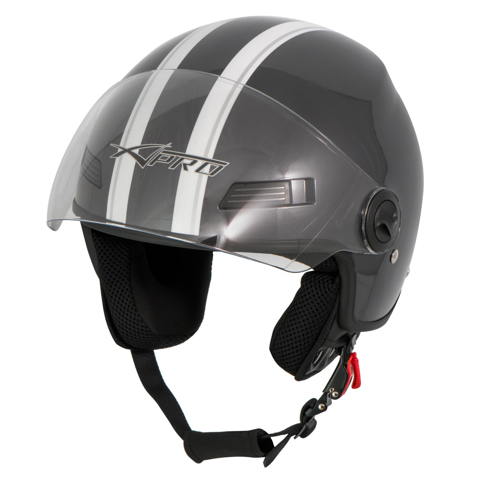 Casque-Avec-Moto-Scooter-Quad-Jet-Visiere-ECE-22-SonicMoto miniature 18