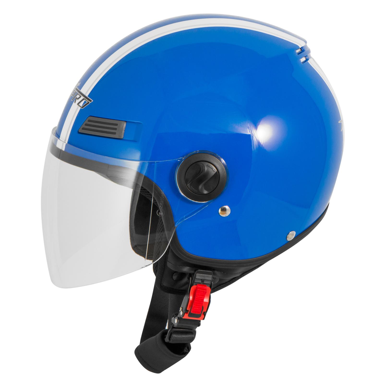 Casque-Avec-Moto-Scooter-Quad-Jet-Visiere-ECE-22-SonicMoto miniature 13
