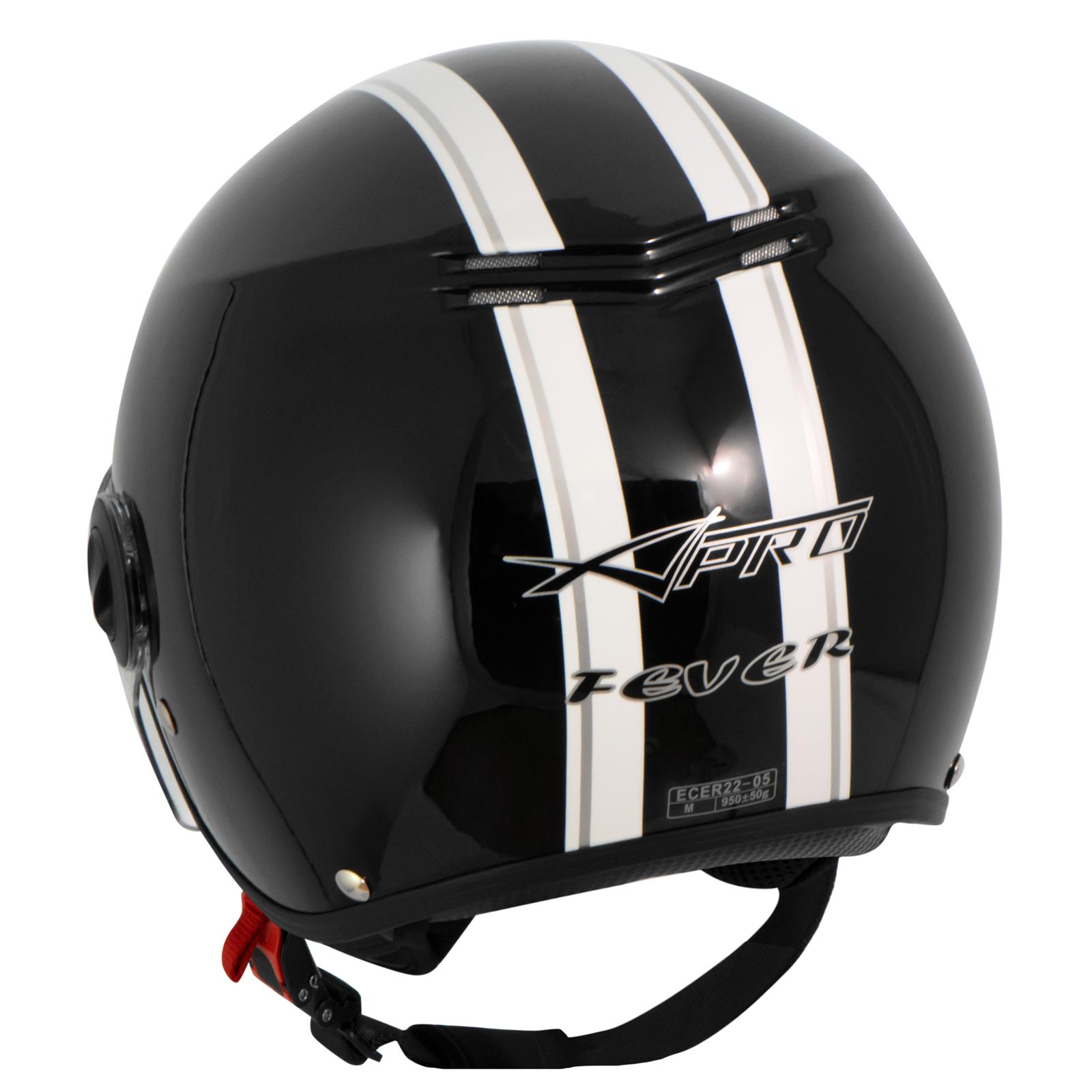 casque avec moto scooter quad jet visiere ece 22 noir sonicmoto ebay. Black Bedroom Furniture Sets. Home Design Ideas