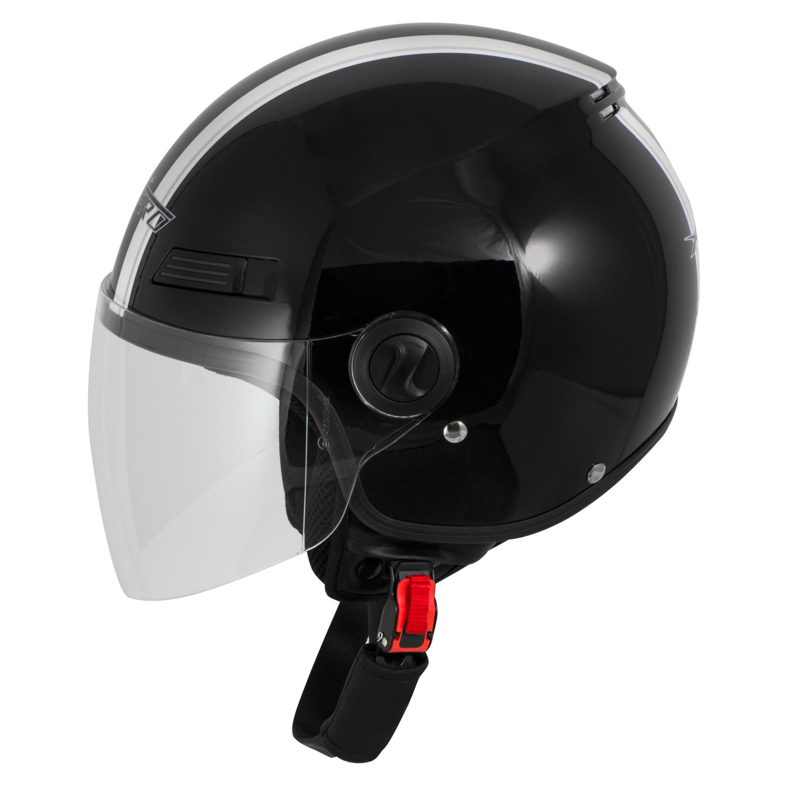 Casque-Avec-Moto-Scooter-Quad-Jet-Visiere-ECE-22-SonicMoto miniature 10