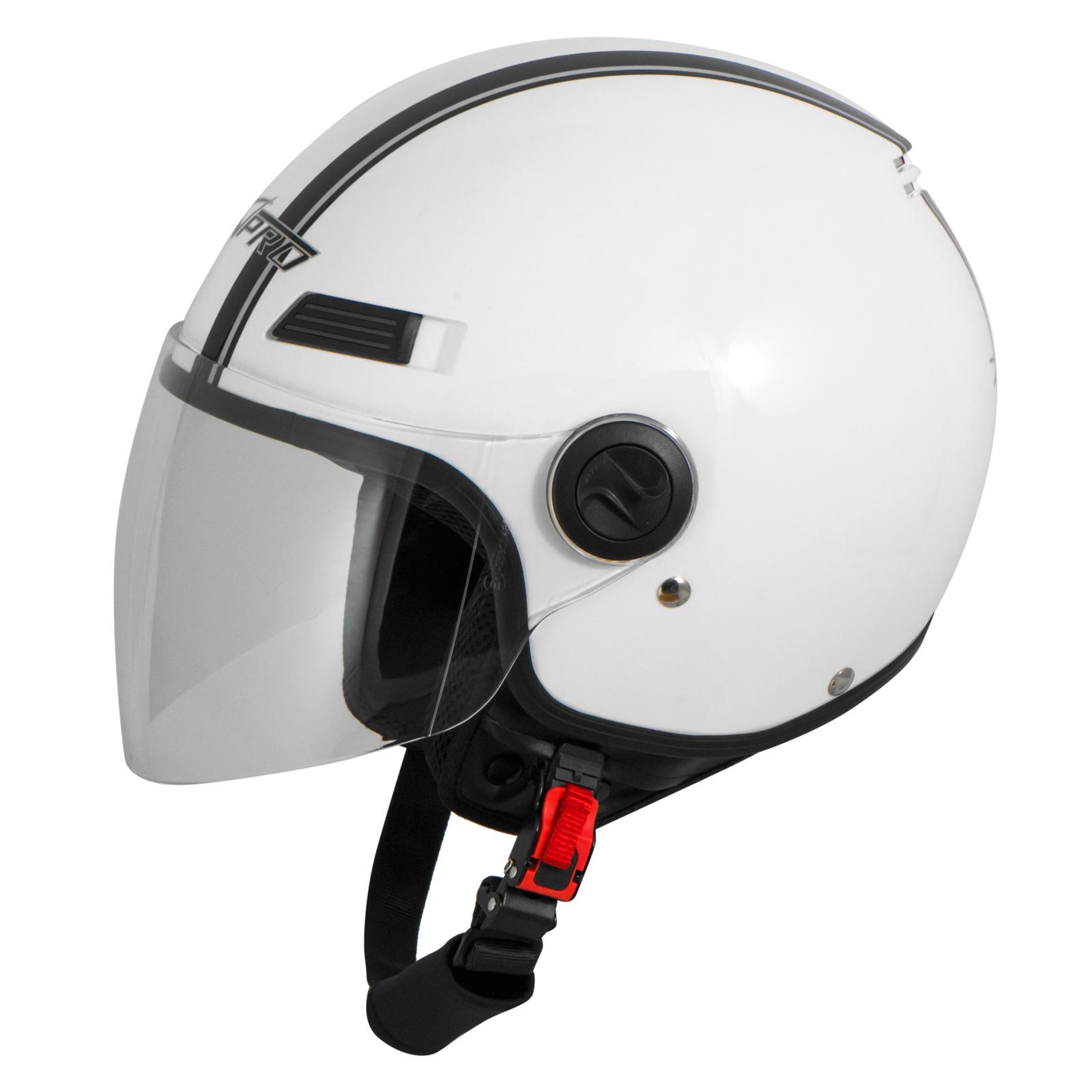 Casque-Avec-Moto-Scooter-Quad-Jet-Visiere-ECE-22-SonicMoto miniature 37