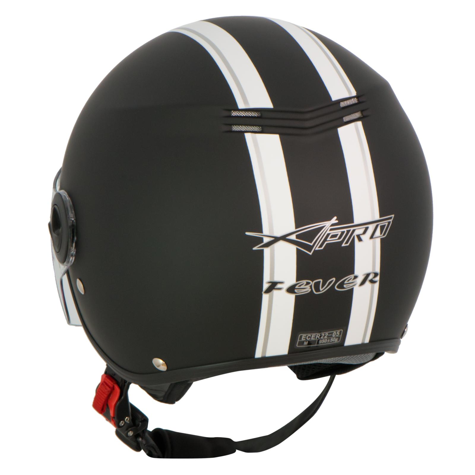 casque avec moto scooter quad jet visiere ece 22 noir mat. Black Bedroom Furniture Sets. Home Design Ideas