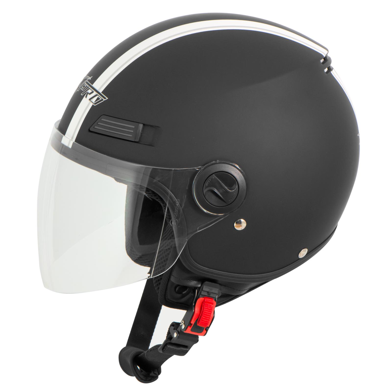 Casque-Avec-Moto-Scooter-Quad-Jet-Visiere-ECE-22-SonicMoto miniature 25