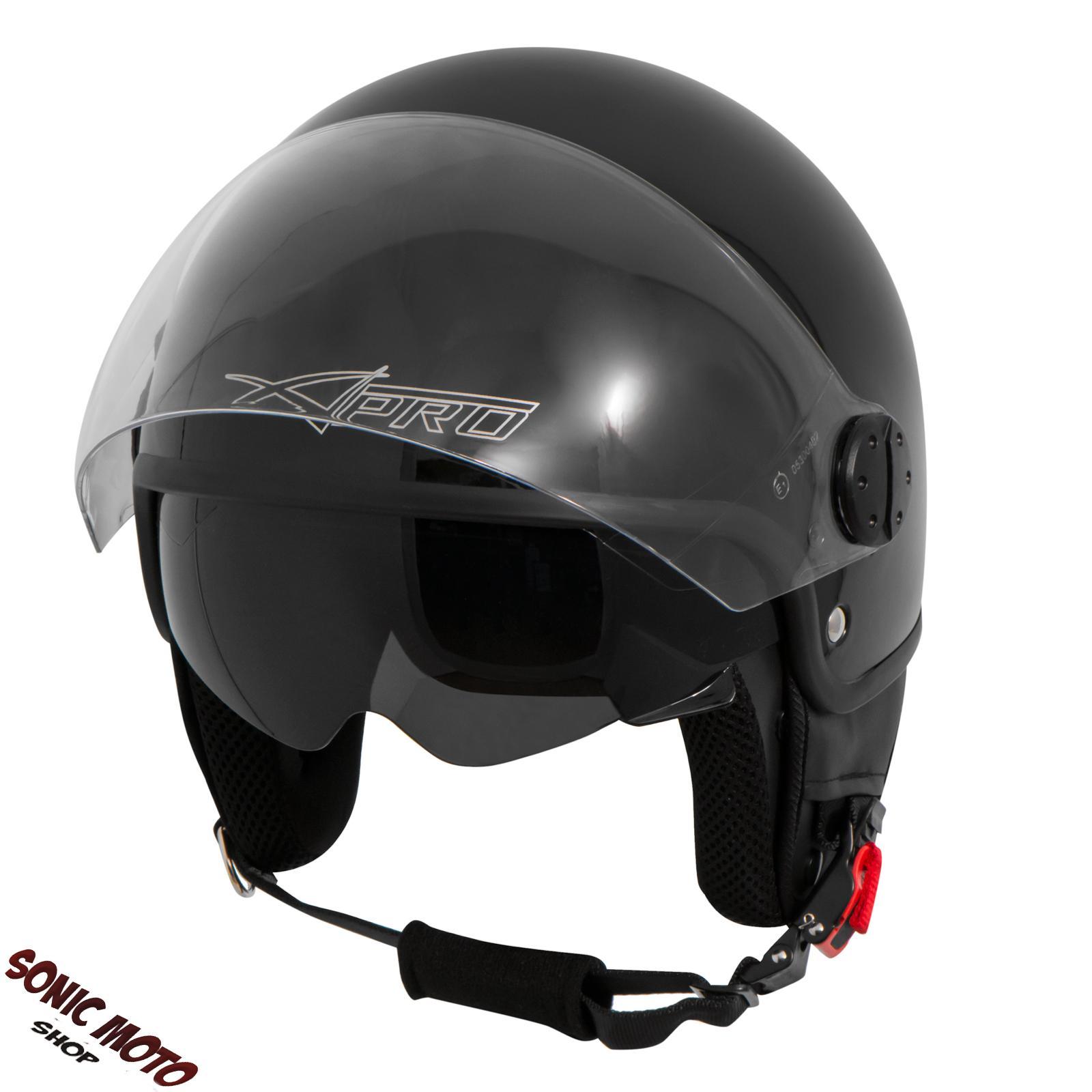 motorradhelm motorrad roller jet helm innensonnenblende 2. Black Bedroom Furniture Sets. Home Design Ideas