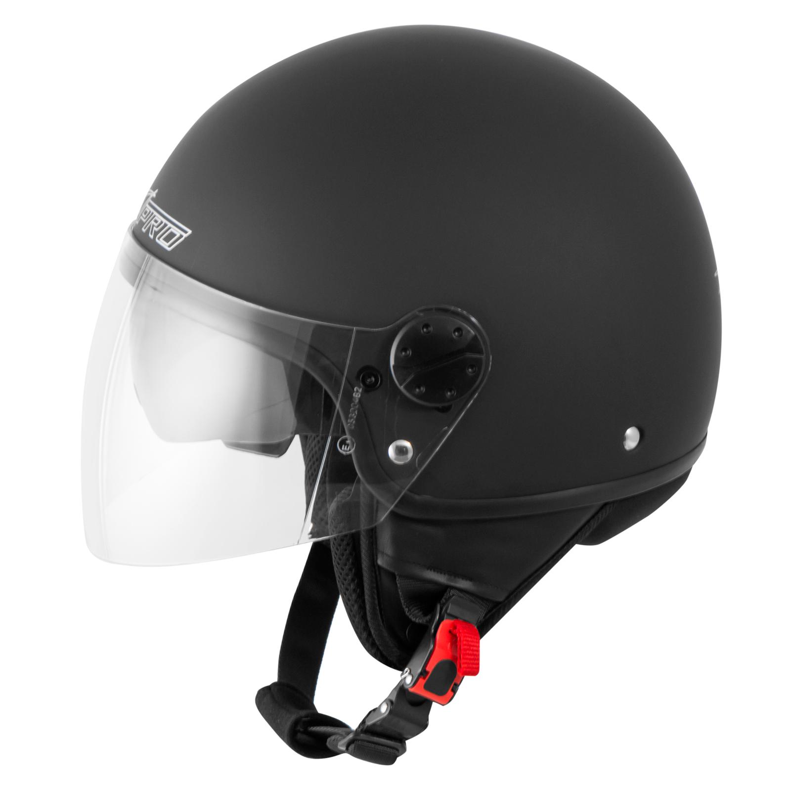 casque moto scooter vespa jet visiere pare soleil ece 22 blanc sonicmoto ebay. Black Bedroom Furniture Sets. Home Design Ideas