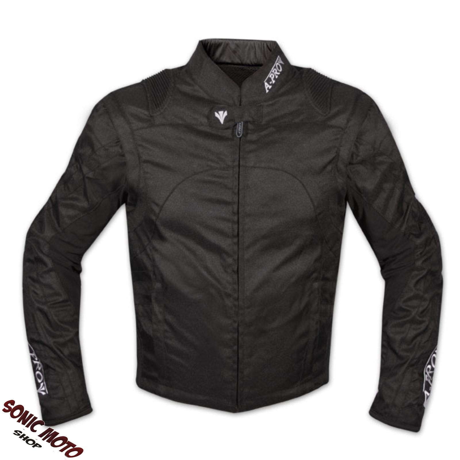 Cordura-Moto-Jacket-manga-desmontable-Racing-Sport-Touring-Scooter-negro