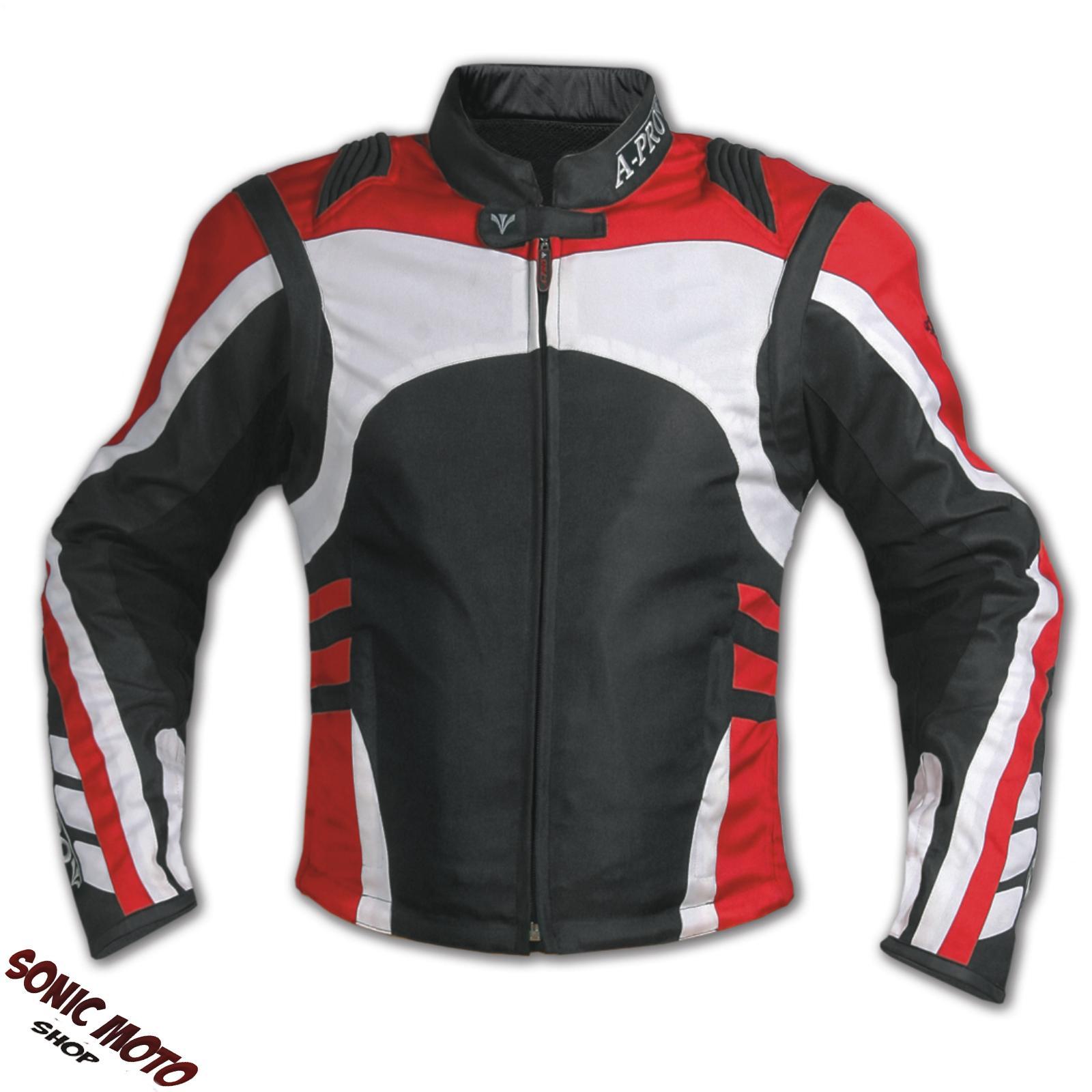 Chaqueta-De-Moto-Textil-Cordura-Manga-Desmontable-Racing-Sport-Berlina-Touring