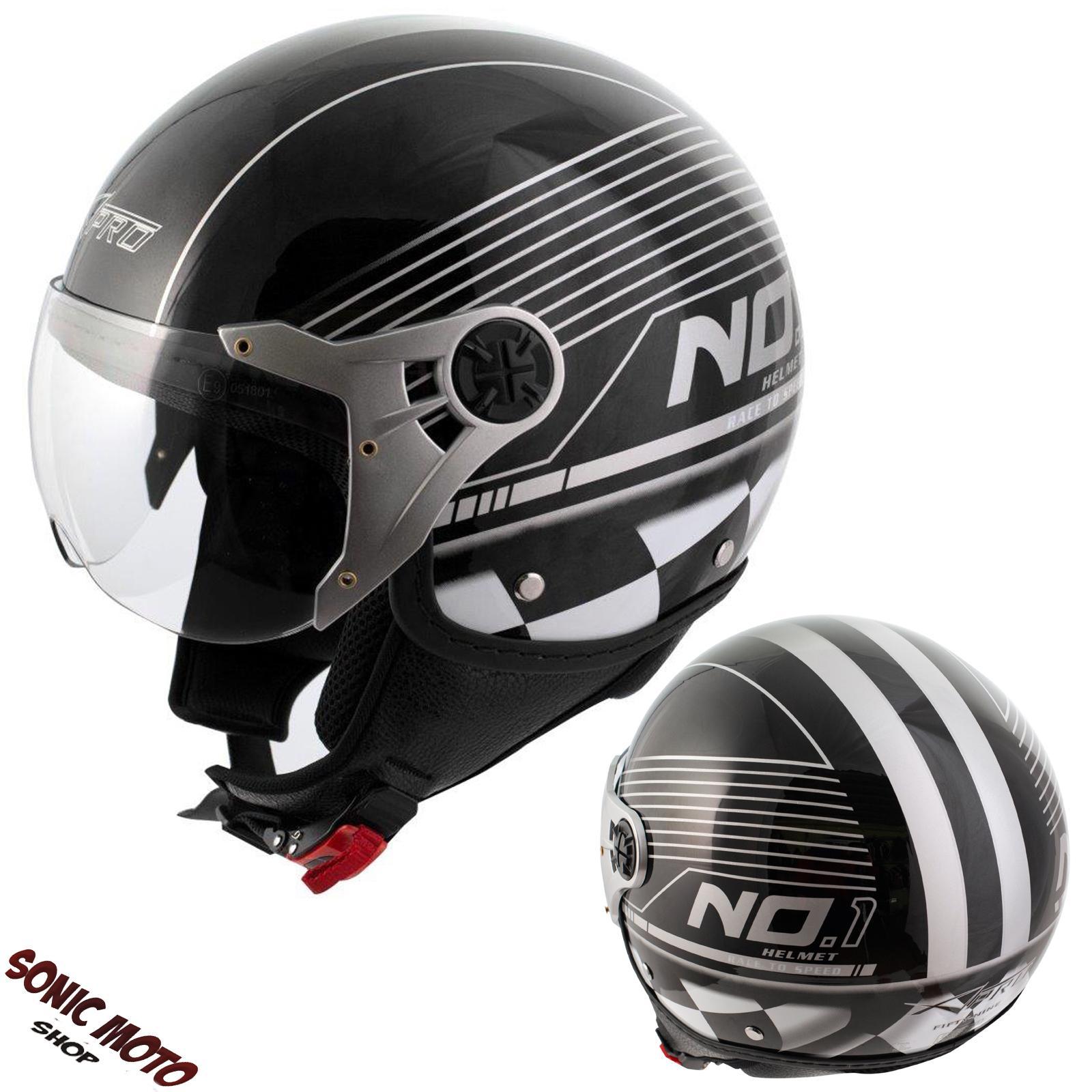 scooter moto casco jet omologato ece 22 05 visiera. Black Bedroom Furniture Sets. Home Design Ideas