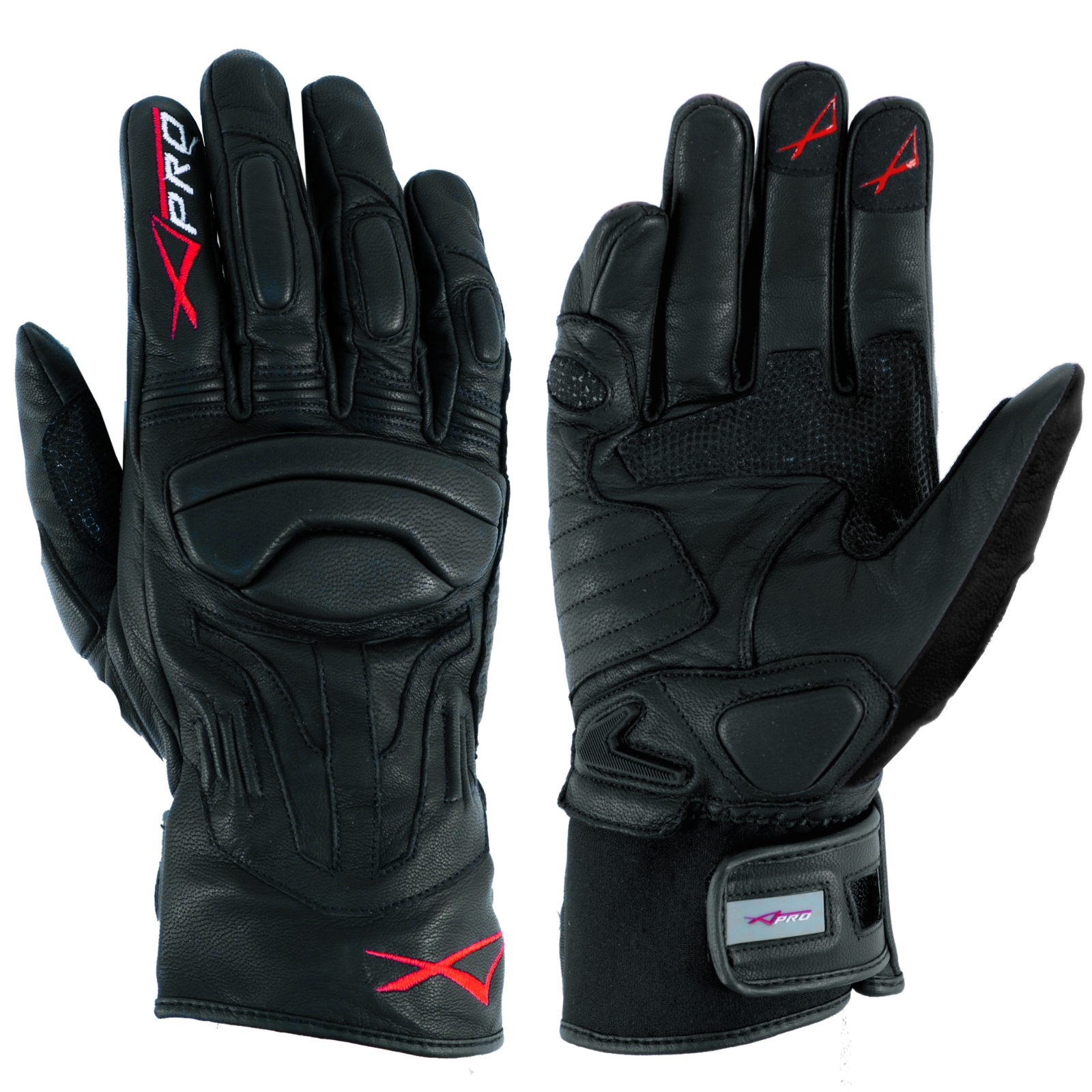 gants et sport cuir souple doublure moto motard touring piste a pro noir. Black Bedroom Furniture Sets. Home Design Ideas