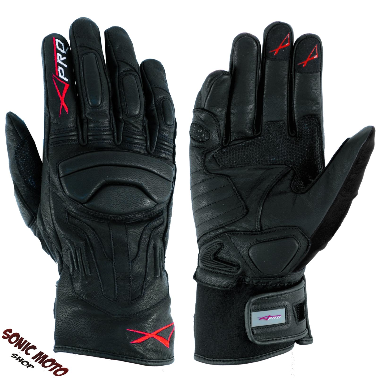 Summer leather sport Padded Gloves Scooter Motorcycle Apparel Bikers