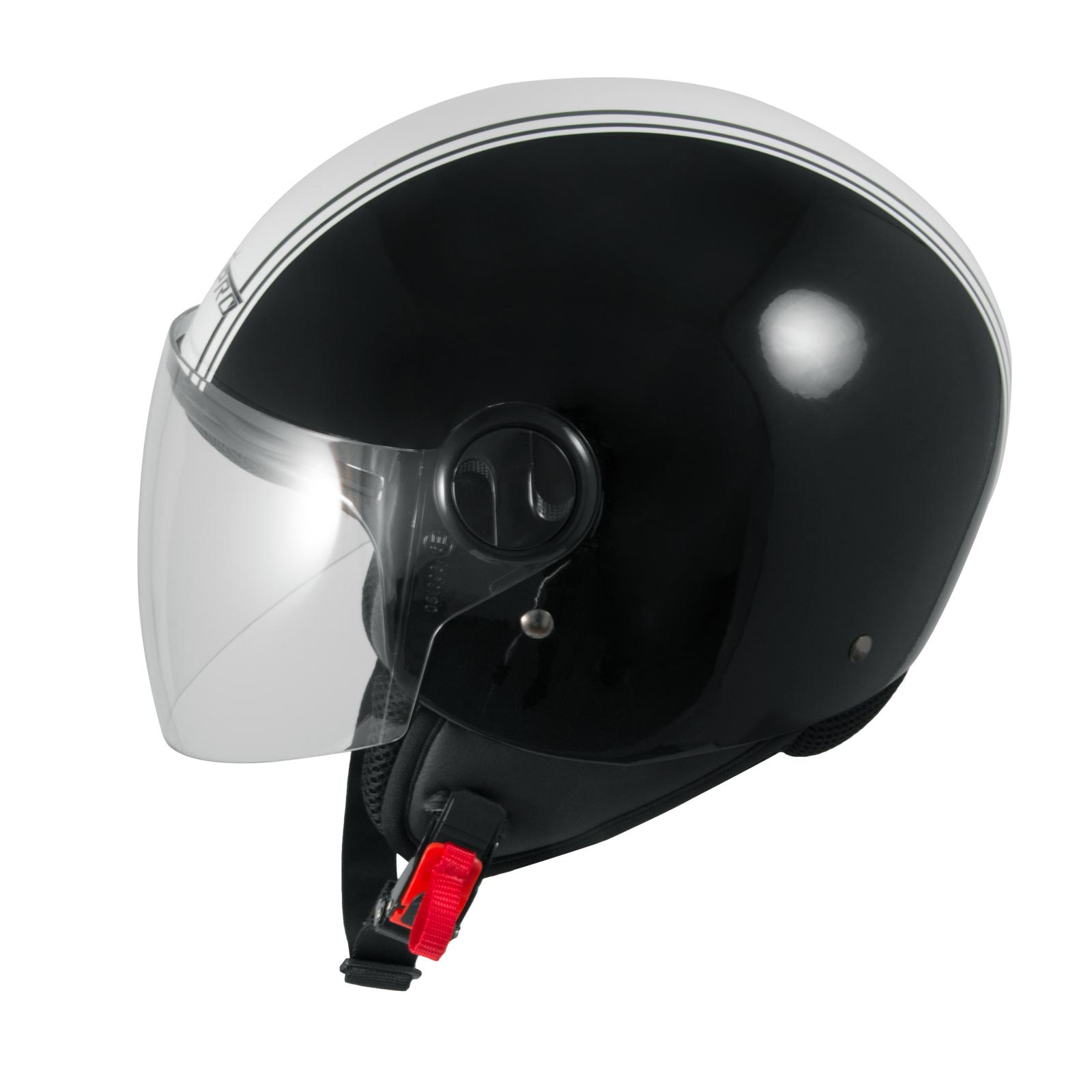 casque avec moto scooter quad jet visiere ece 22 graphique noir sonicmoto ebay. Black Bedroom Furniture Sets. Home Design Ideas