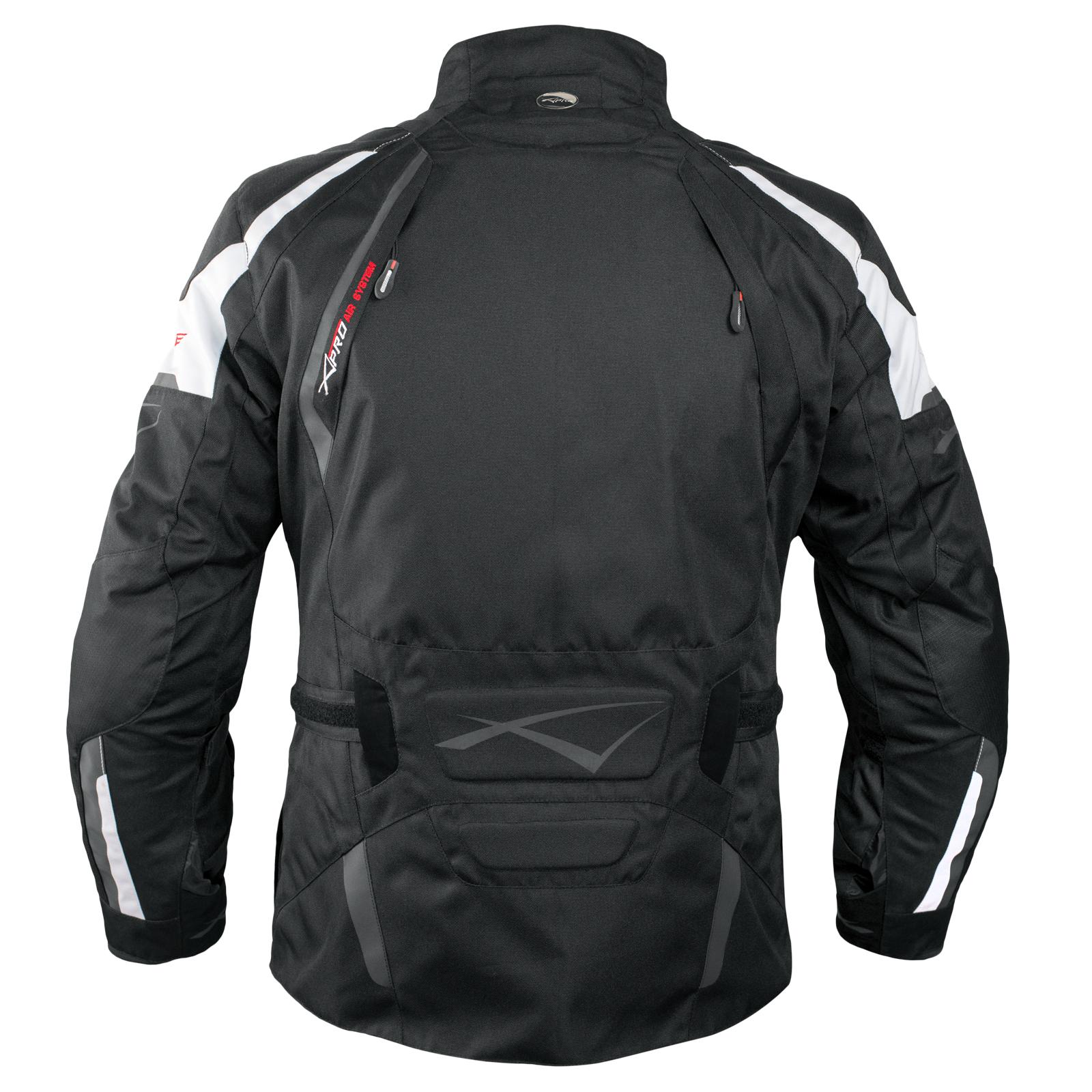 Enduro-Giacca-Moto-Turismo-Touring-Off-Road-Cordura-Impermeabile-Bianco