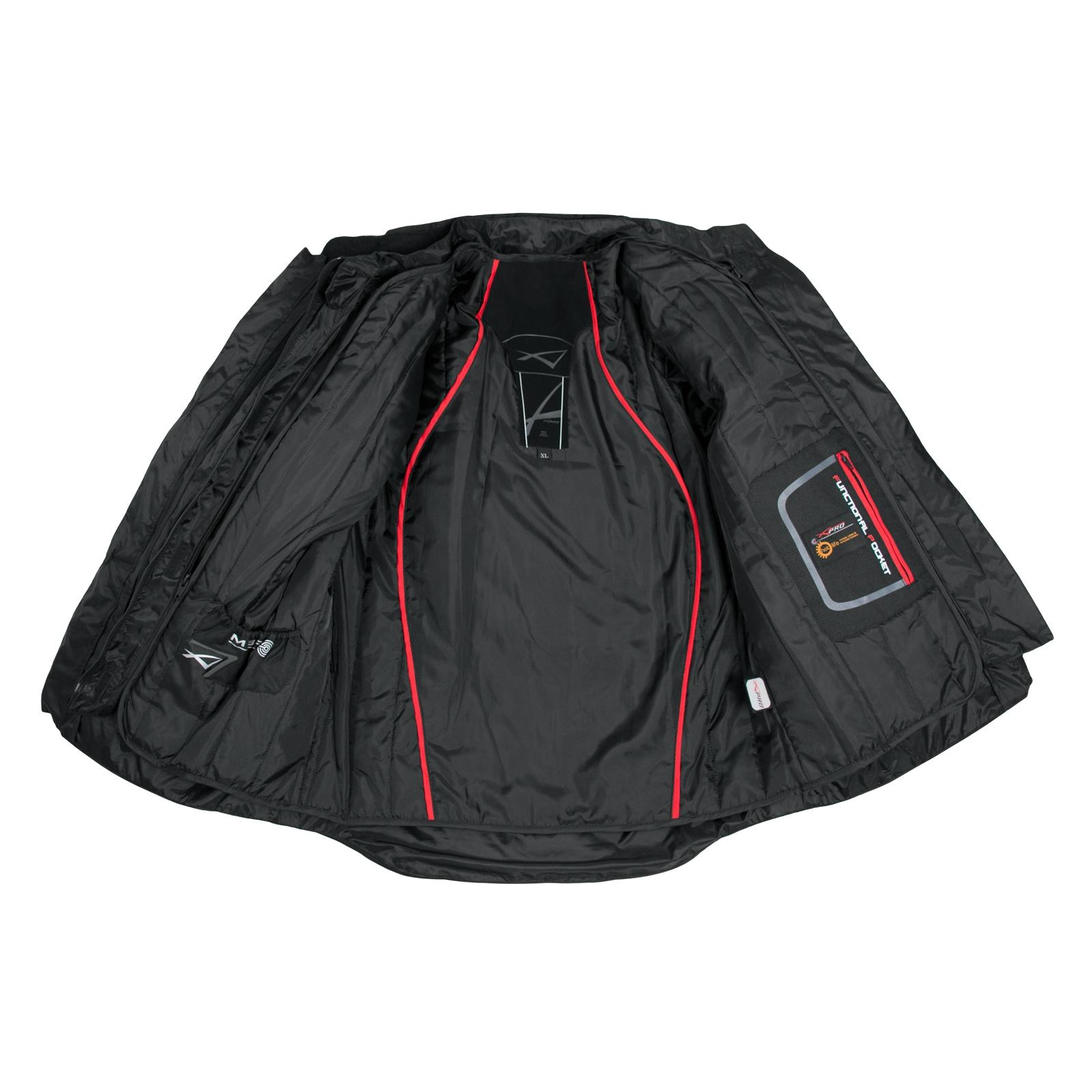 miniatuur 5 - Giacca-Touring-Moto-Cordura-Tessuto-Protezioni-CE-Impermeabile-Blu