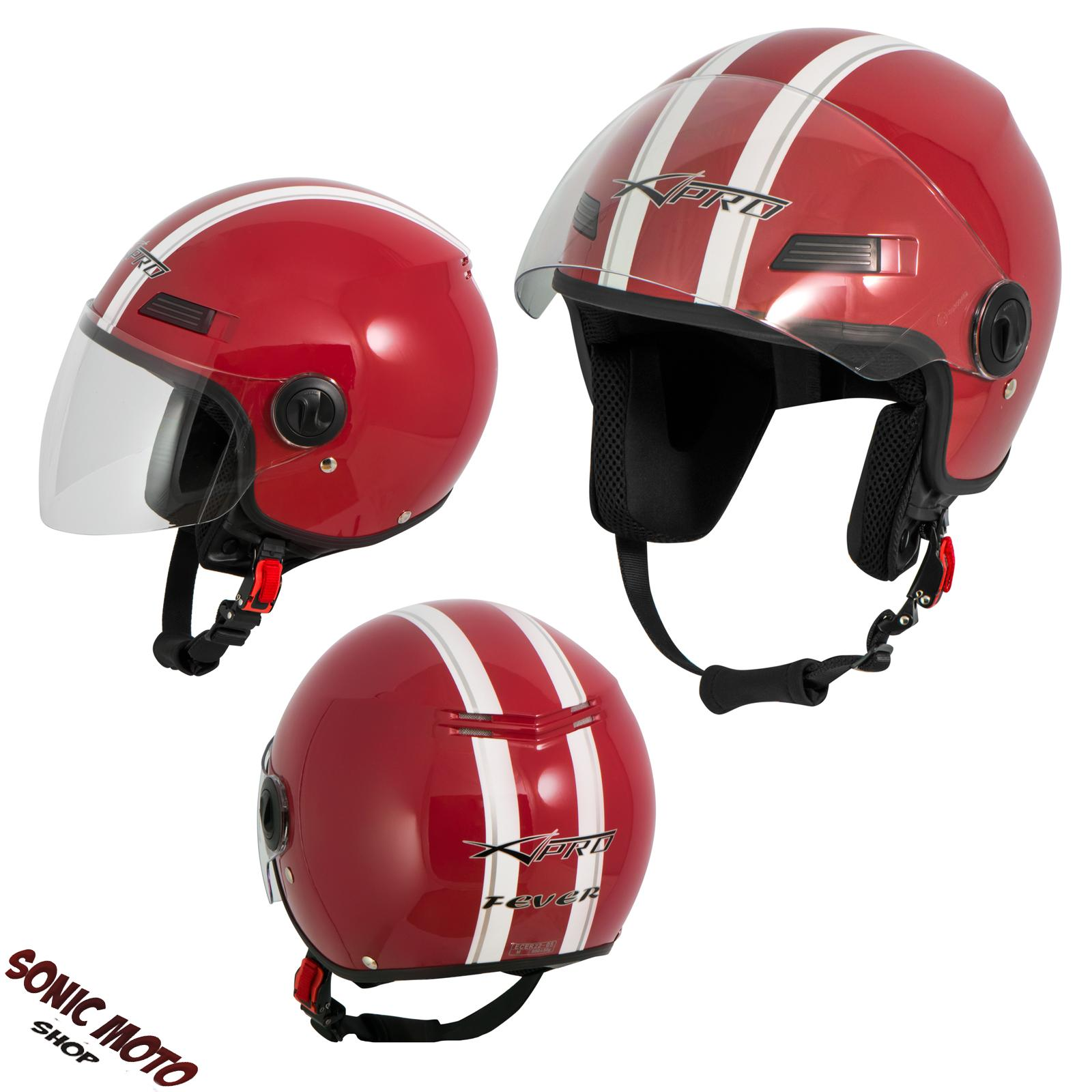 casque avec moto scooter quad jet visiere ece 22 sonicmoto ebay. Black Bedroom Furniture Sets. Home Design Ideas