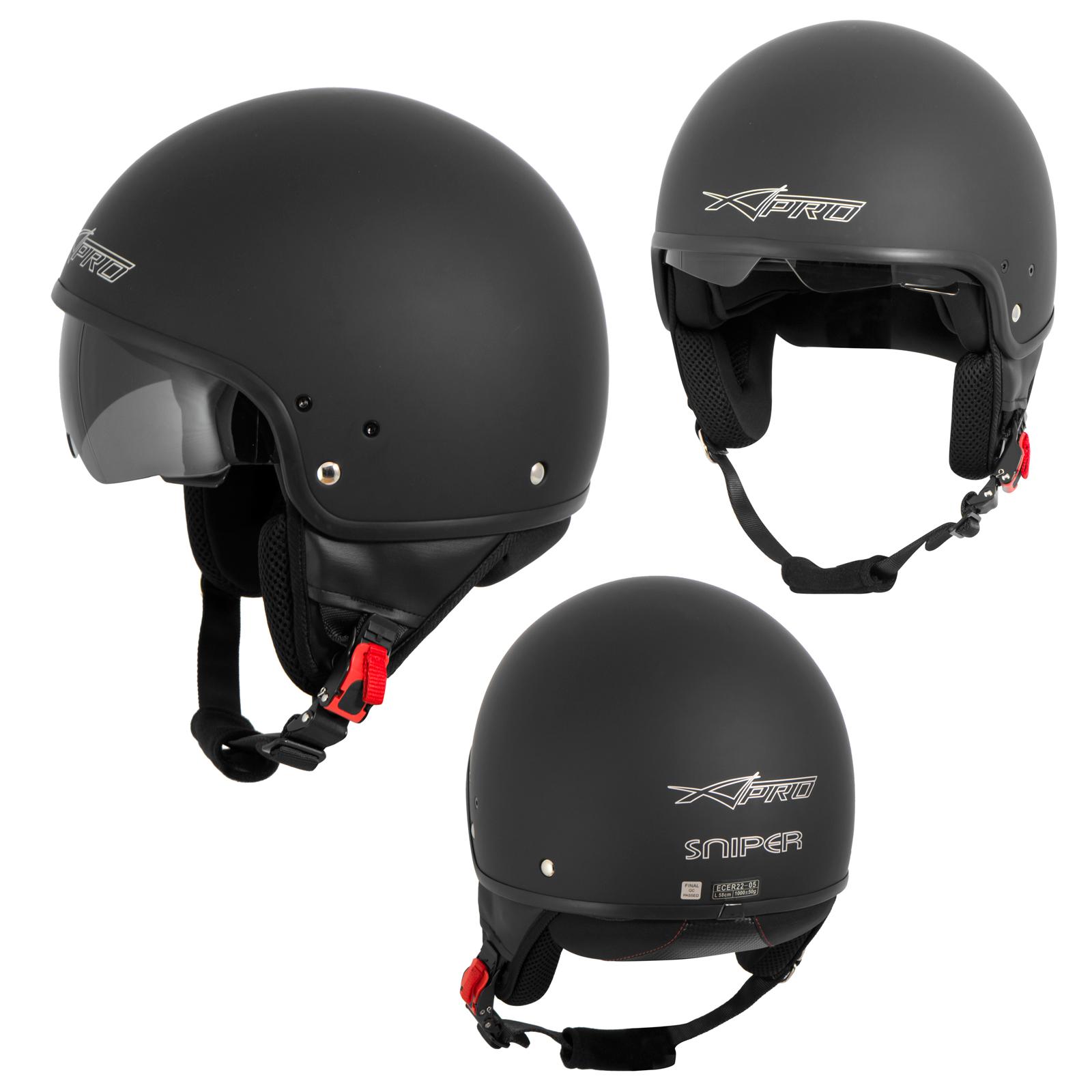 motorradhelm motorrad roller jet helm innensonnenblende. Black Bedroom Furniture Sets. Home Design Ideas