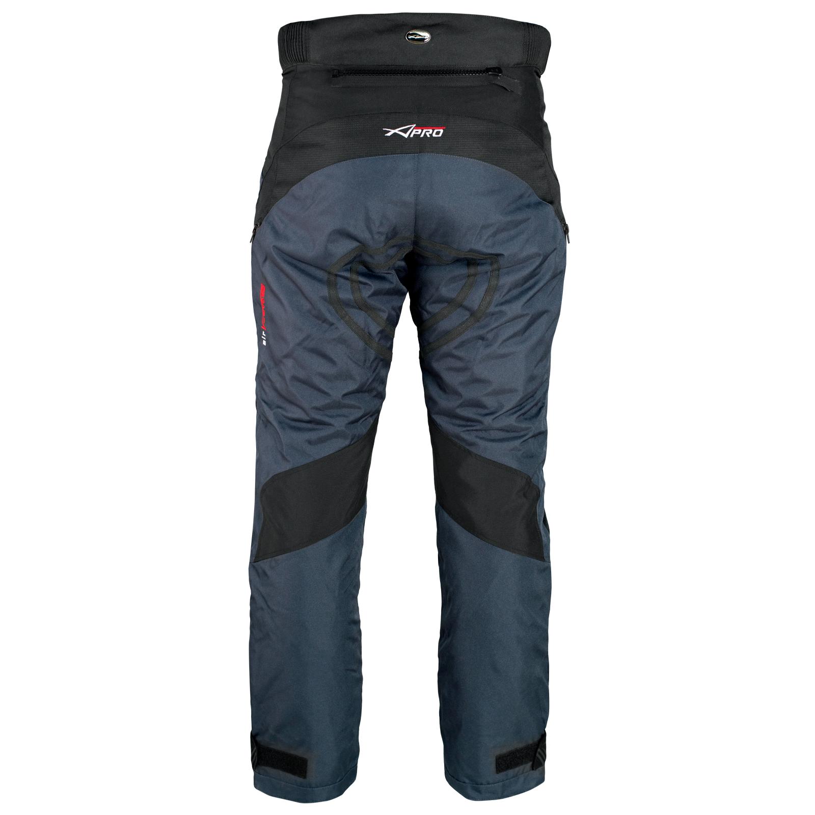 miniatuur 9 - Pantaloni Impermeabile Moto Imbottitura Termica Estraibile Traspirante Cordura