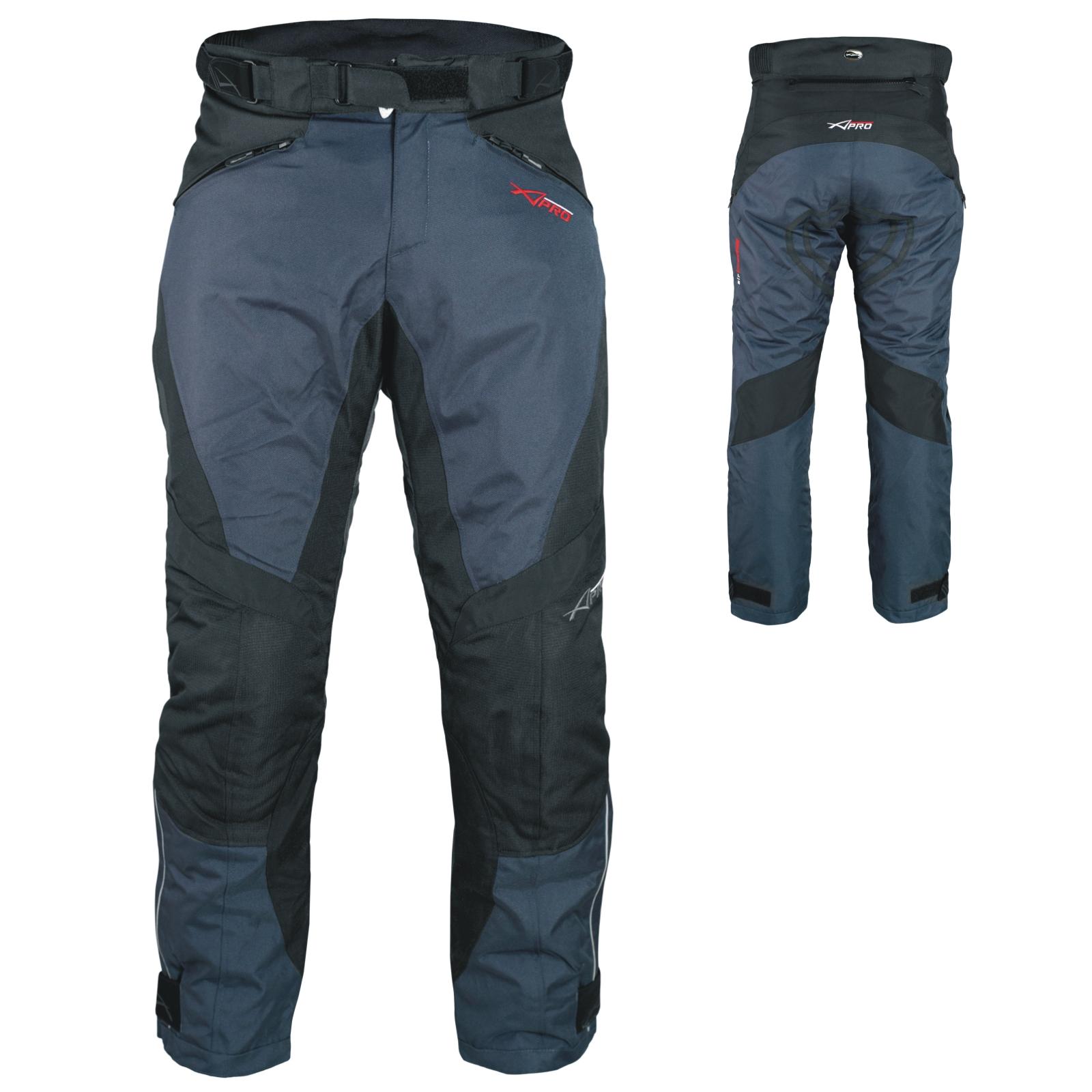 Pantalon-Impermeable-Homme-Protections-CE-Thermique-Motard-Reflechissant-Moto miniature 8