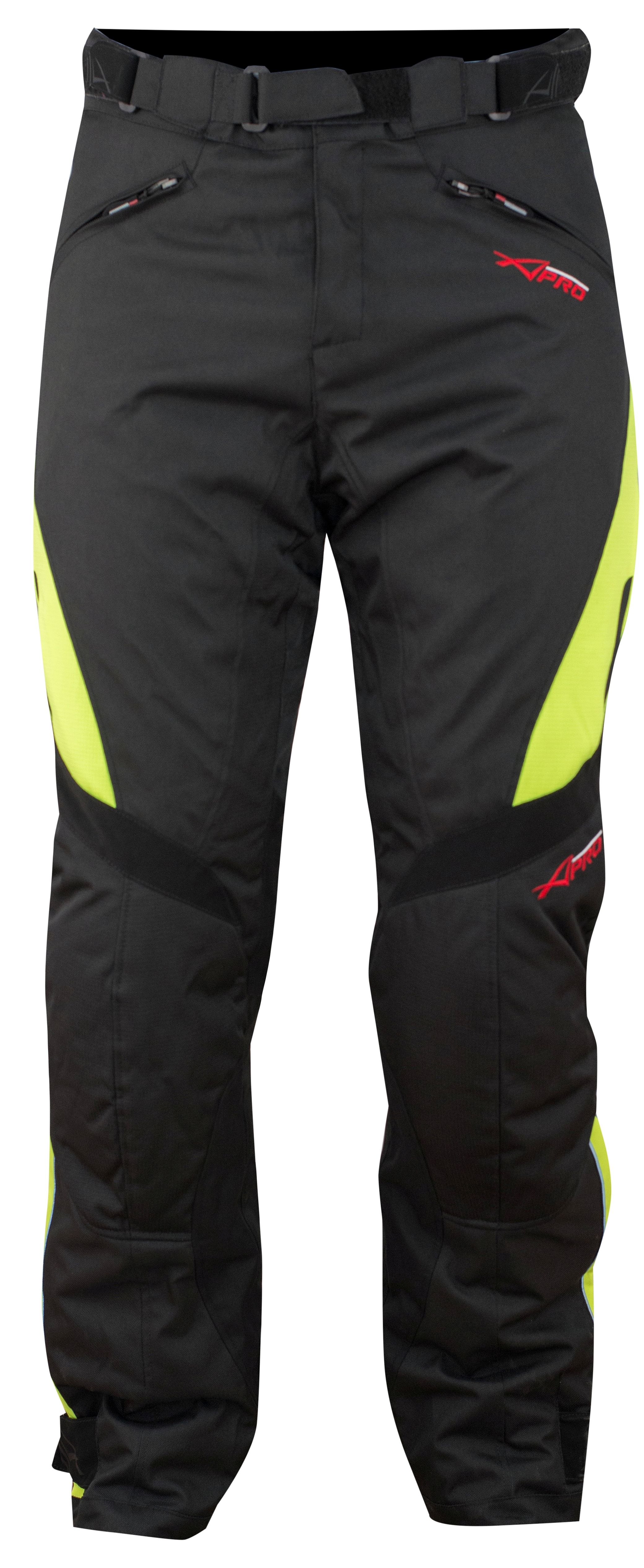 Pantaloni-Donna-Impermeabile-Moto-Imbottitura-Termica-Traspirante-Fluo miniatura 9