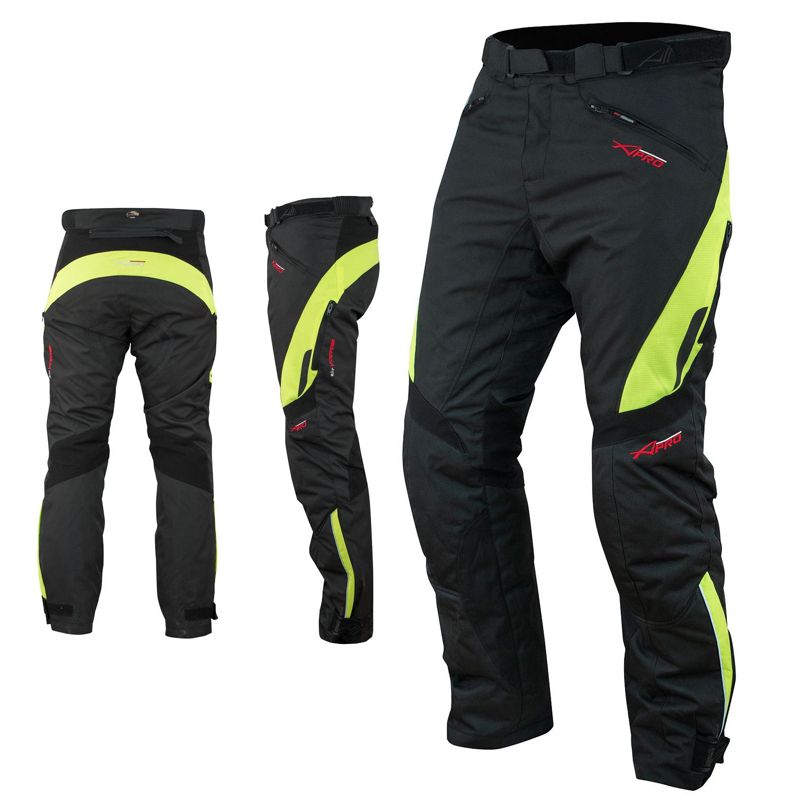 Pantaloni-Donna-Impermeabile-Moto-Imbottitura-Termica-Traspirante-Fluo miniatura 5