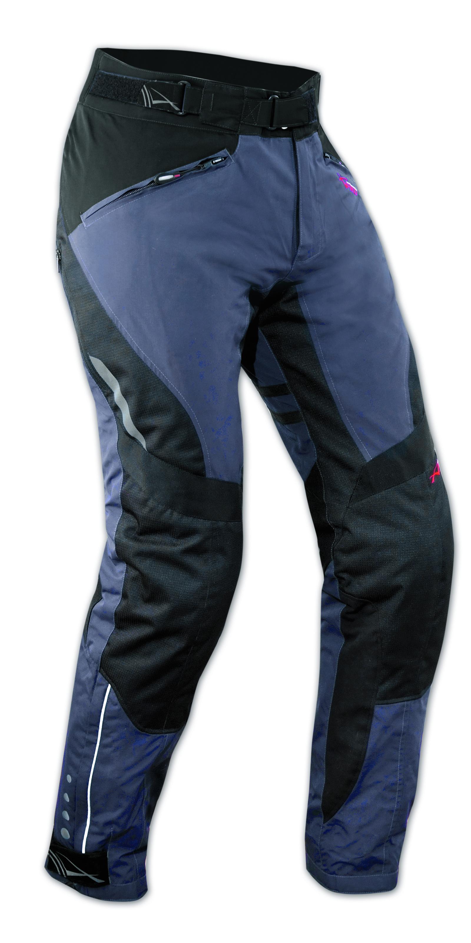 Pantaloni-Donna-Lady-Impermeabile-Moto-Imbottitura-Termica-Estraibile-Blu